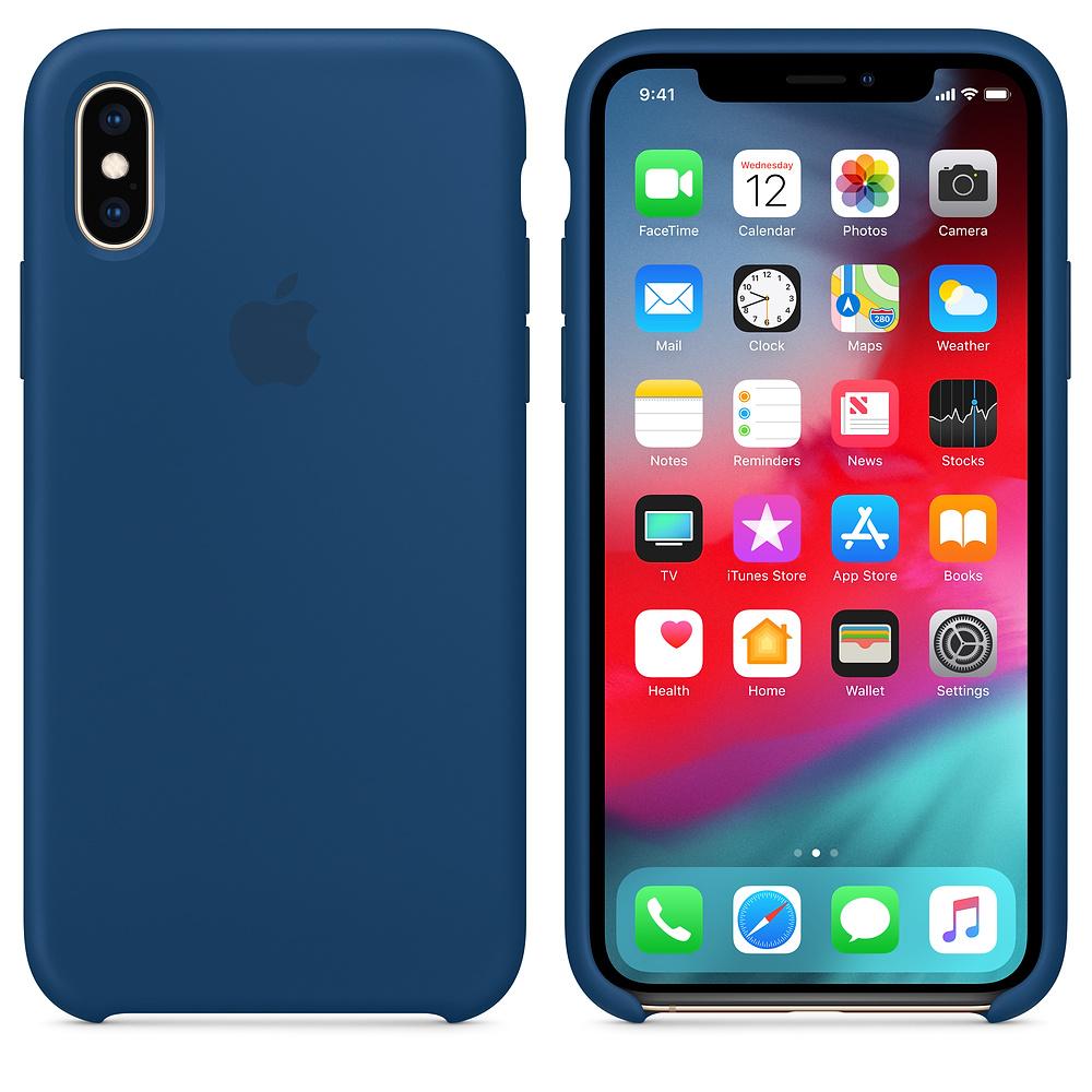 Чехол Silicone Case для iPhone X / XS (Blue Horizon) OEM