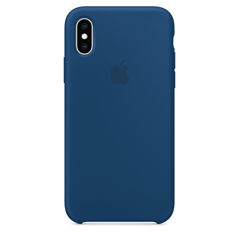 Чехол Silicone Case для iPhone XS Blue Horizon OEM