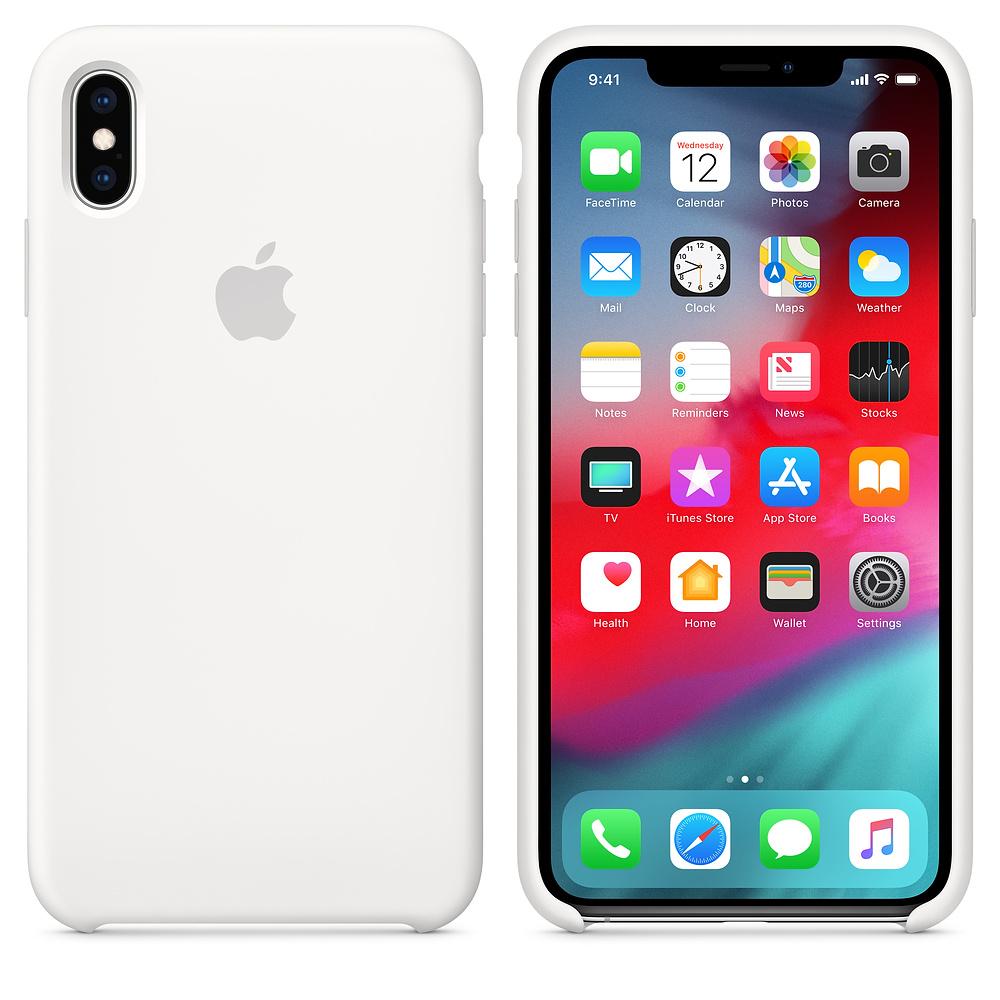 Чехол Silicone Case для iPhone XS Max White OEM
