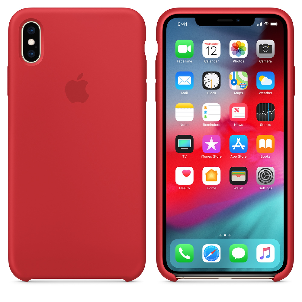 Чехол Silicone Case для iPhone XS Max (Red) OEM