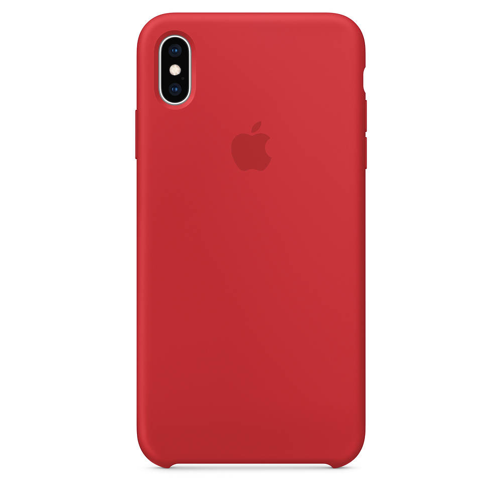 Чехол Silicone Case для iPhone XS Max (PRODUCT)RED OEM