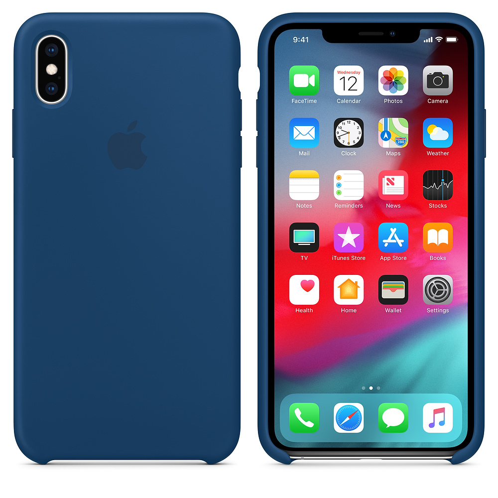 Чехол Silicone Case для iPhone XS Max (Blue Horizon) OEM