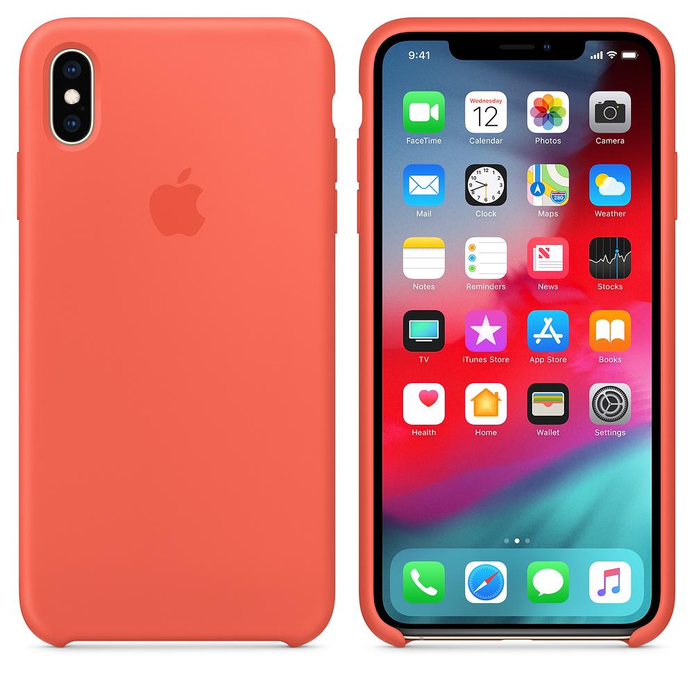 Чехол Silicone Case для iPhone XS Max (Nectarine) OEM