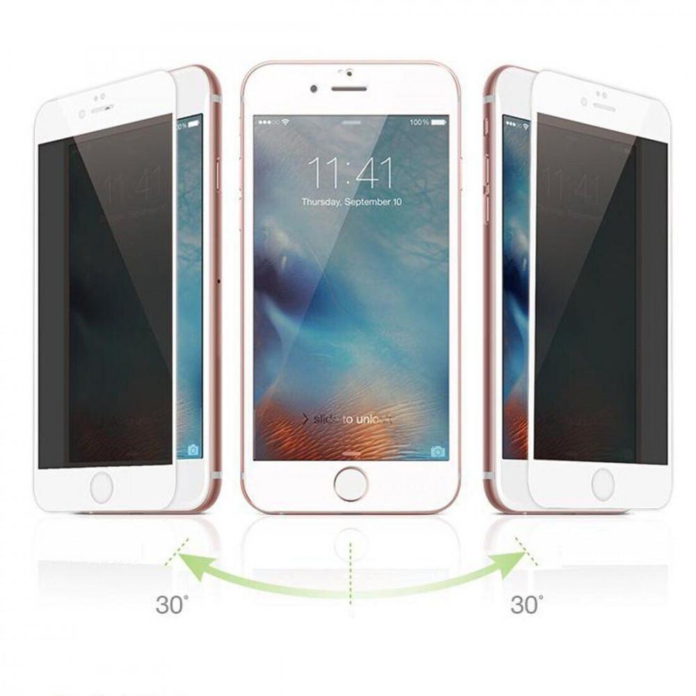 Защитное стекло для iPhone 6 Plus/6s Plus Privacy Анти-шпион (White)