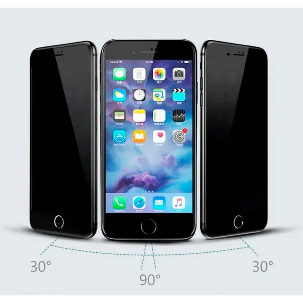 Защитное стекло для iPhone 6/6s Privacy Анти-шпион (Black)