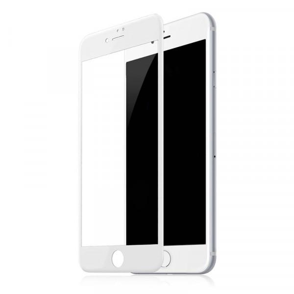 Защитное стекло 5D для iPhone 8 Plus / 7 Plus (White)