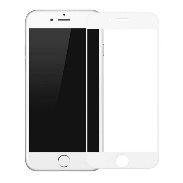 Защитное стекло iPhone 7/8 Baseus PET Soft 0.2mm White (SGAPIPH8N-BPE02)