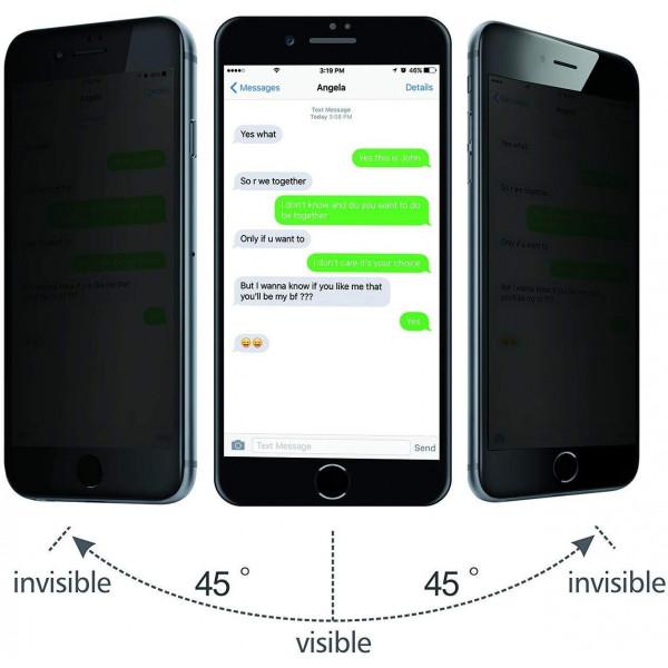 Защитное стекло для iPhone 7/8 Privacy Анти-шпион (Black)