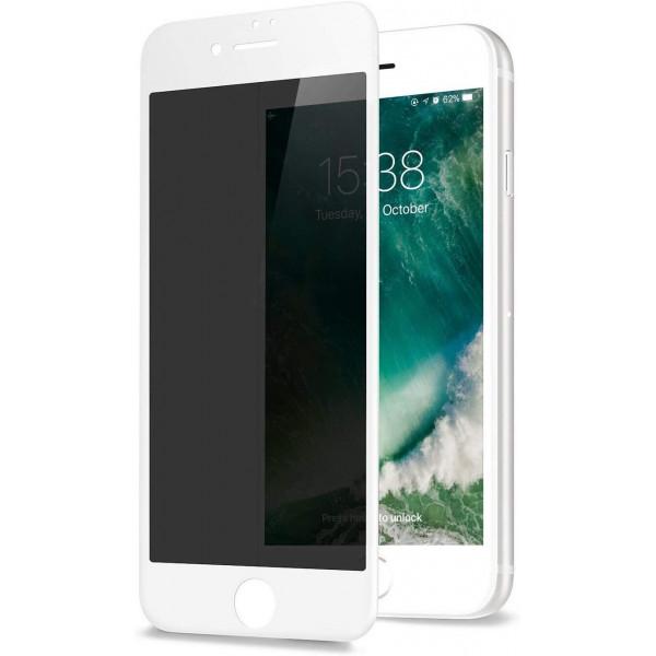 Защитное стекло для iPhone 7/8 Privacy Анти-шпион (White)