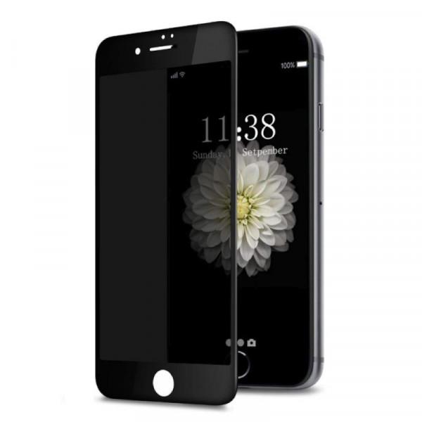 Защитное стекло для iPhone 7 Plus/8 Plus Privacy Анти-шпион (Black)