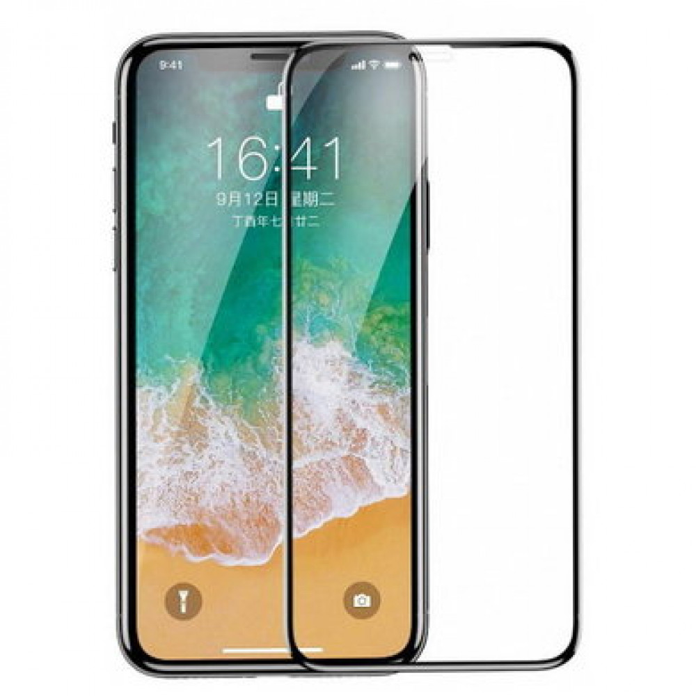 Защитное стекло 3D Baseus для iPhone X/XS/11 Pro 0.23mm Black (SGAPIPHX-KA01)