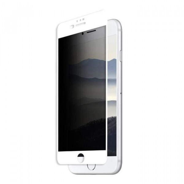 Защитное стекло для iPhone 7 Plus/8 Plus Privacy Анти-шпион (White)