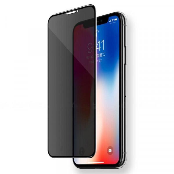 Защитное стекло для iPhone XR/11 Privacy Анти-шпион (Black)
