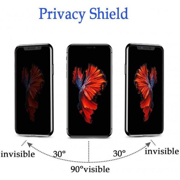 Защитное стекло для iPhone X/XS/11 Pro Privacy Анти-шпион (Black)