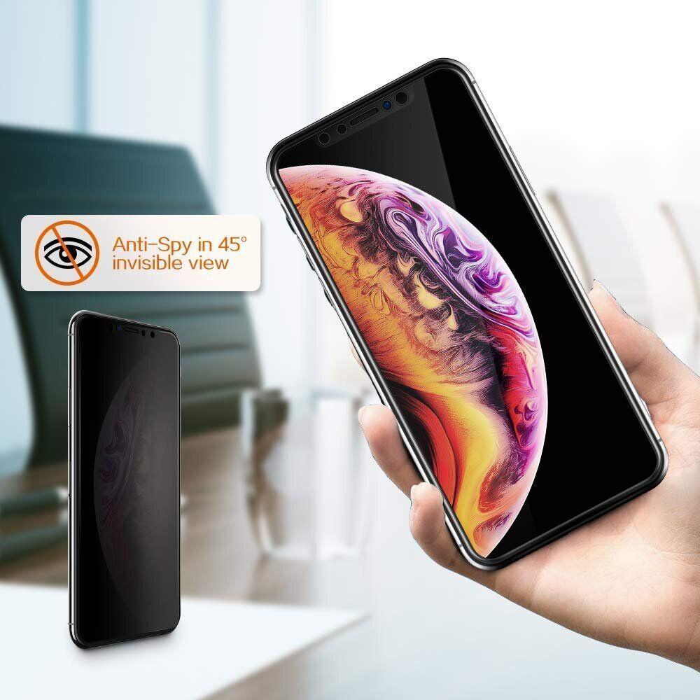 Защитное стекло для iPhone XS Max/11 Pro Max Privacy Анти-шпион (Black)