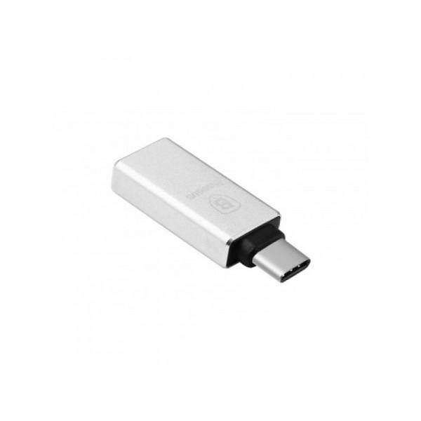 Переходник Baseus USB to Type-C Silver