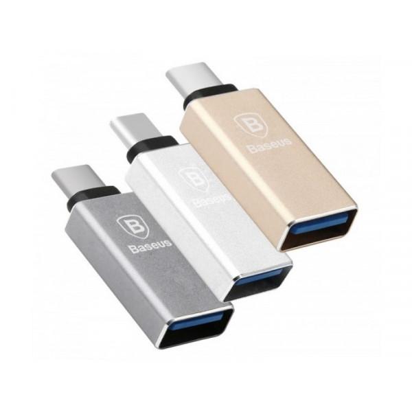Переходник Baseus USB to Type-C Gold