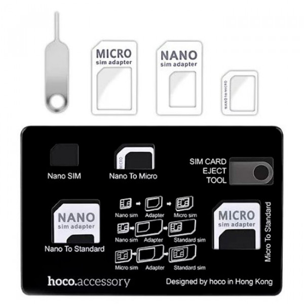Адаптер hoco SL1005 для SIM 4 в 1