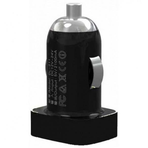 Автозарядка LDNIO USB Charger Чёрный (DL-DC211)