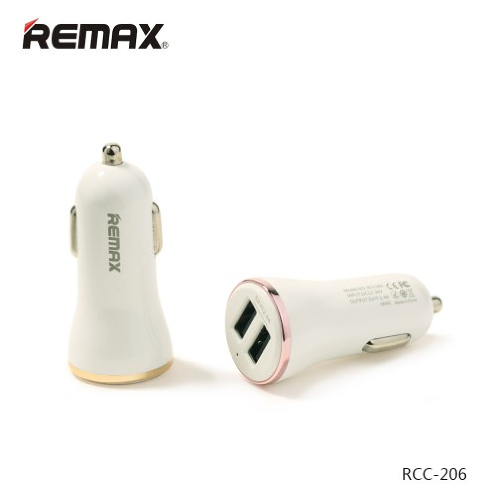 АЗУ Remax Charger RCC206 2USB 2.4A White