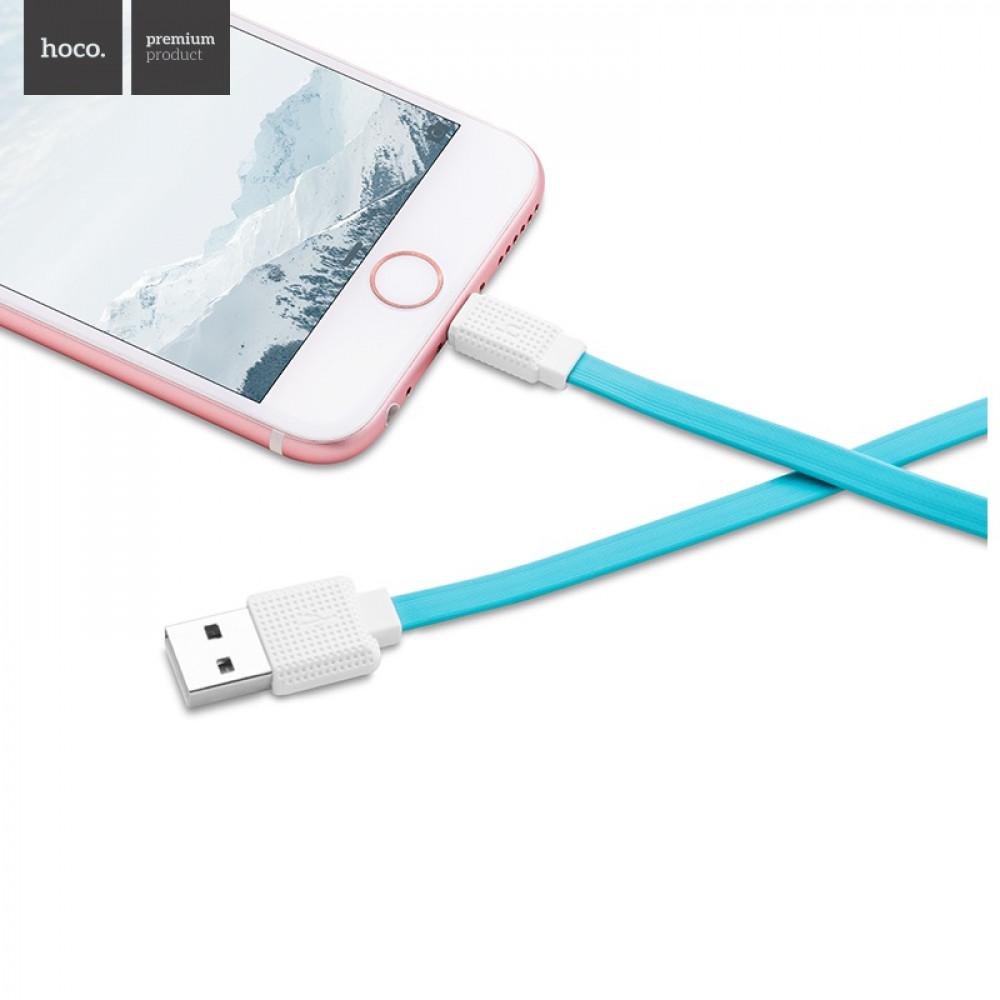 Кабель hoco Waffle Lightning to USB 1.2м (UPL18) для iPhone \ iPad \ iPod Pink