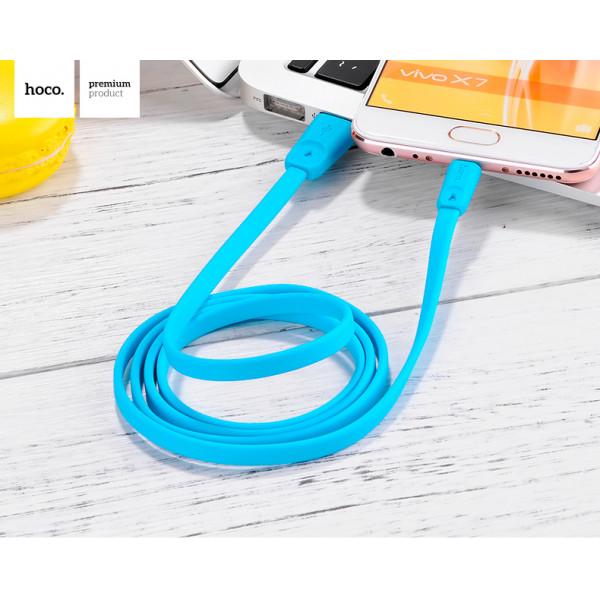 Кабель hoco Rapid Lightning to USB 1м (x9) для iPhone \ iPad \ iPod Blue