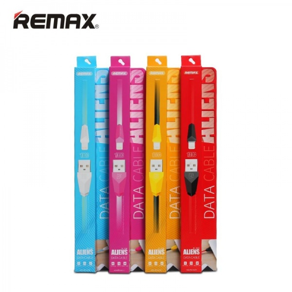 Кабель Remax Aliens Lightning-USB (RC-030i) Yellow
