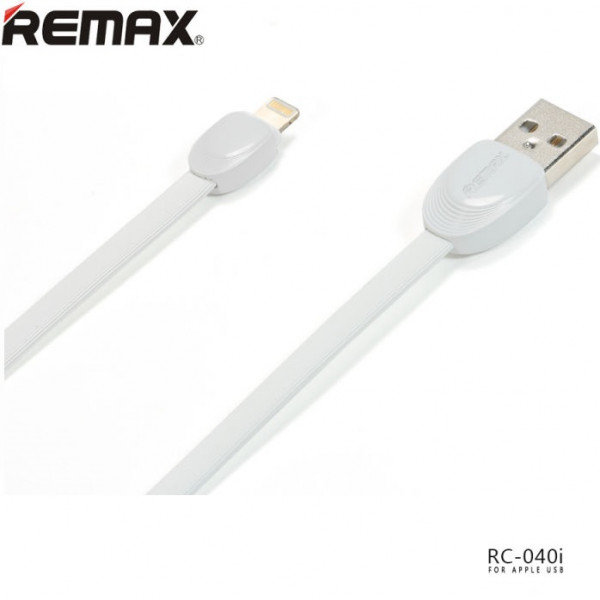 Кабель REMAX Shell Cable Lightning (RC-040i) White 1m