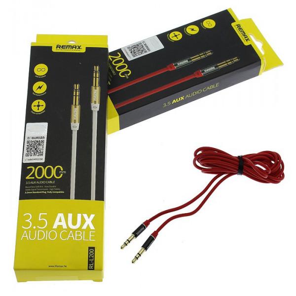 AUX-кабель Remax 3.5mm Stereo Cable 2м (RL-L200) Красный