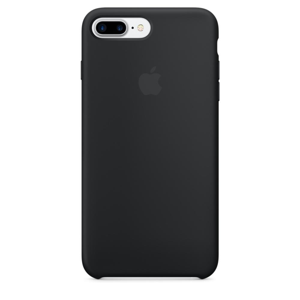 Силиконовый чехол для iPhone 7/8 Plus (Чёрный)