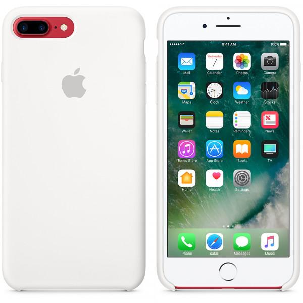 Силиконовый чехол для iPhone 7/8 Plus (белый)