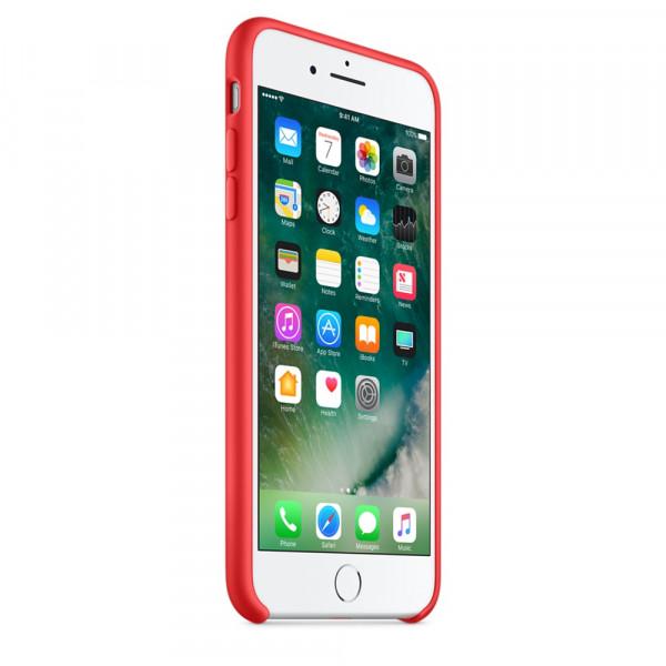 Силиконовый чехол для iPhone 7/8 Plus (красный)