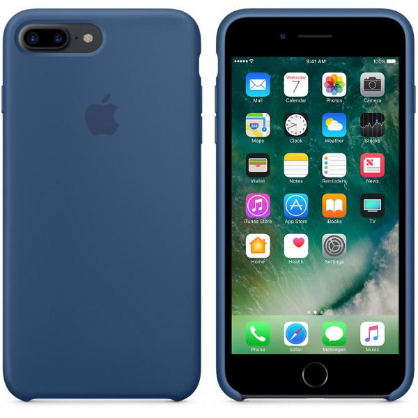 Силиконовый чехол для iPhone 7/8 Plus (глубокий синий)