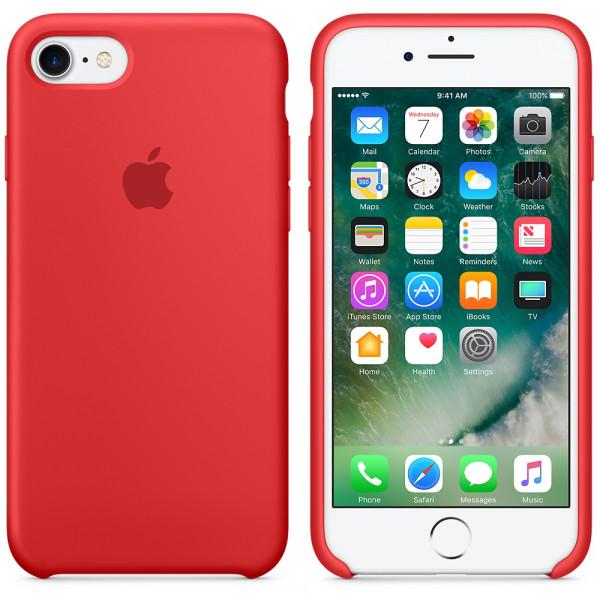 Чехол Apple Silicone Case на iPhone 7 / 8 / SE (2020) PRODUCT (RED) Original (MQGP2)