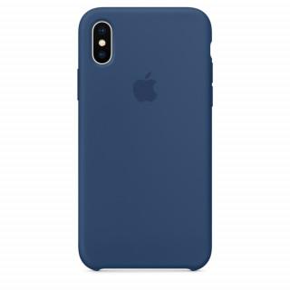 Чехол Apple Silicone Case для iPhone X Blue Cobalt Original (MQT42)