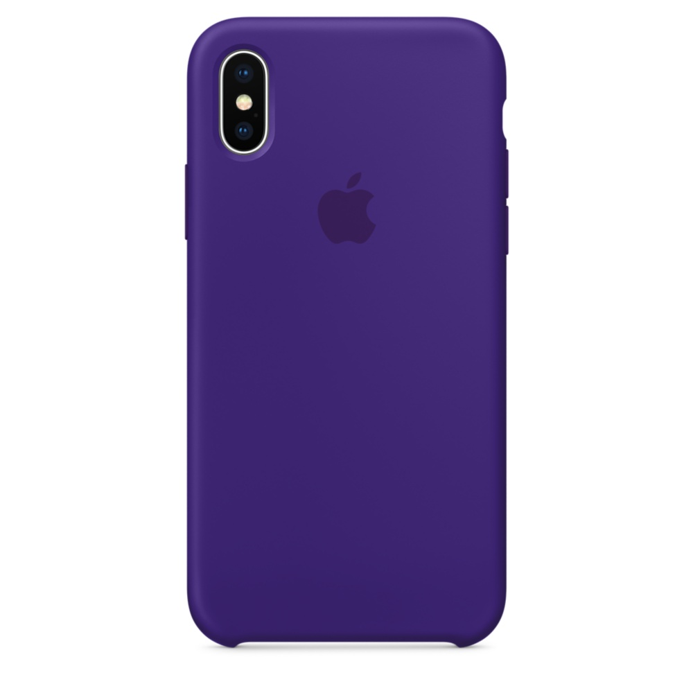 Чехол Apple Silicone Case для iPhone X / XS (Ultra Violet) Original (MQT72)