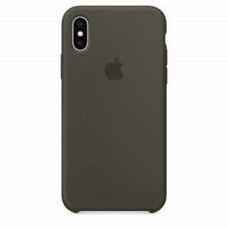 Чехол Apple Silicone Case для iPhone X Dark Olive Original (MR522)