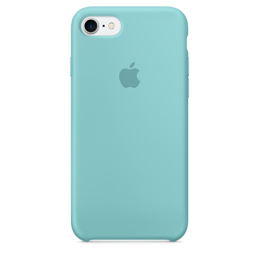 Чехол Apple Silicone Case для iPhone 8/7 Sea Blue Original (MMX02)