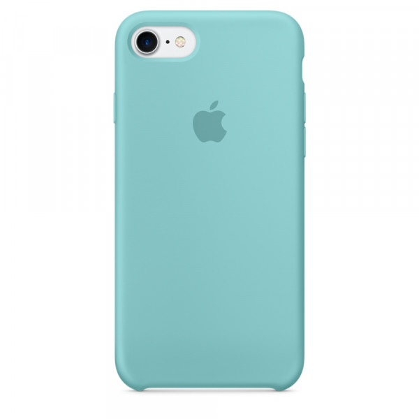 Чехол Apple Silicone Case на iPhone 7 / 8 / SE (2020) Sea Blue Original (MMX02)