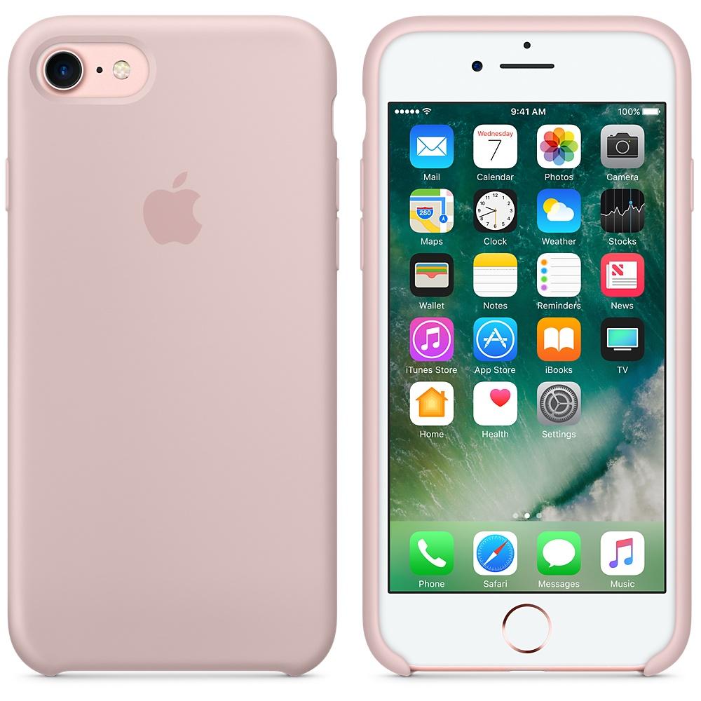 Чехол Silicone Case на iPhone 7 / 8 / SE (2020) Pink Sand OEM