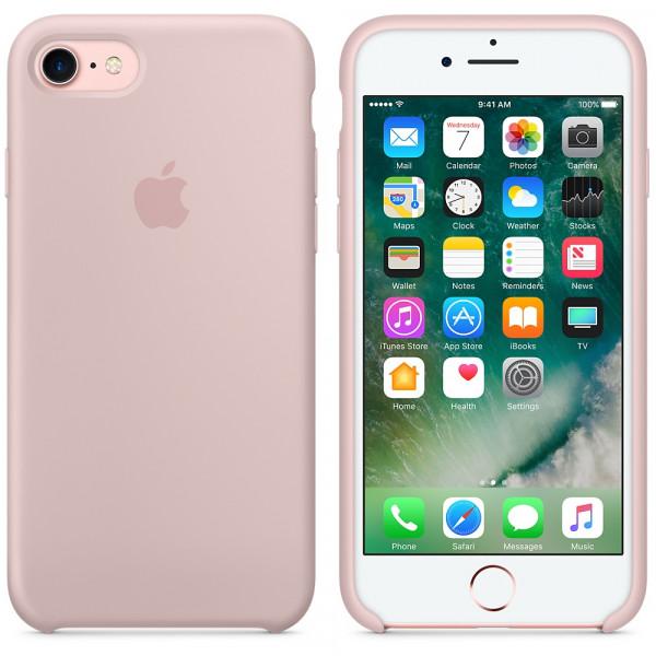 Чехол Apple Silicone Case на iPhone 7 / 8 / SE (2020) Pink Sand Original (MQGQ2)