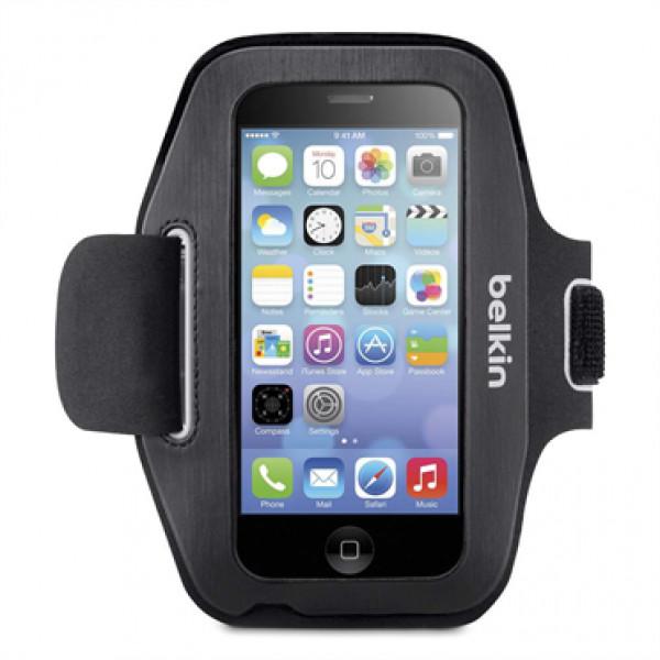 Спортивный чехол на руку Belkin Sport-Fit Armband (F8W367btC00) для iPhone SE / 5s / 5 Смурый