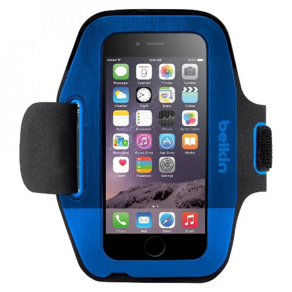 Спортивный чехол на руку Belkin Sport-FIt Armband (F8W630btC01) для iPhone 6\6s Синий