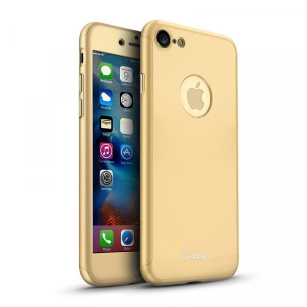 Чехол iPaky 360 Gold на iPhone 7 / 8 / SE (2020)