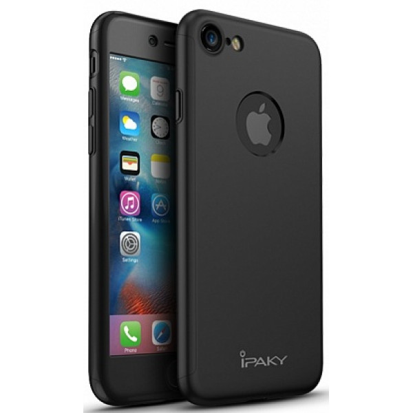 Чехол iPaky 360 Black на iPhone 7 / 8 / SE (2020)