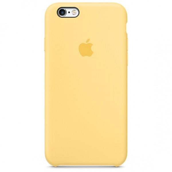 Чехол Silicone Case для iPhone 6/6s (Yellow) OEM