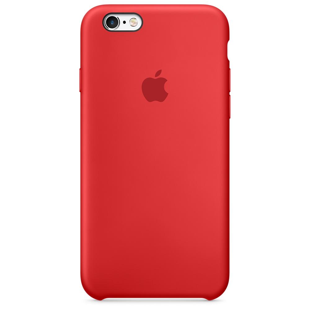 Силиконовый чехол Apple Silicone Case (PRODUCT) RED (MKY32) для iPhone 6/6s
