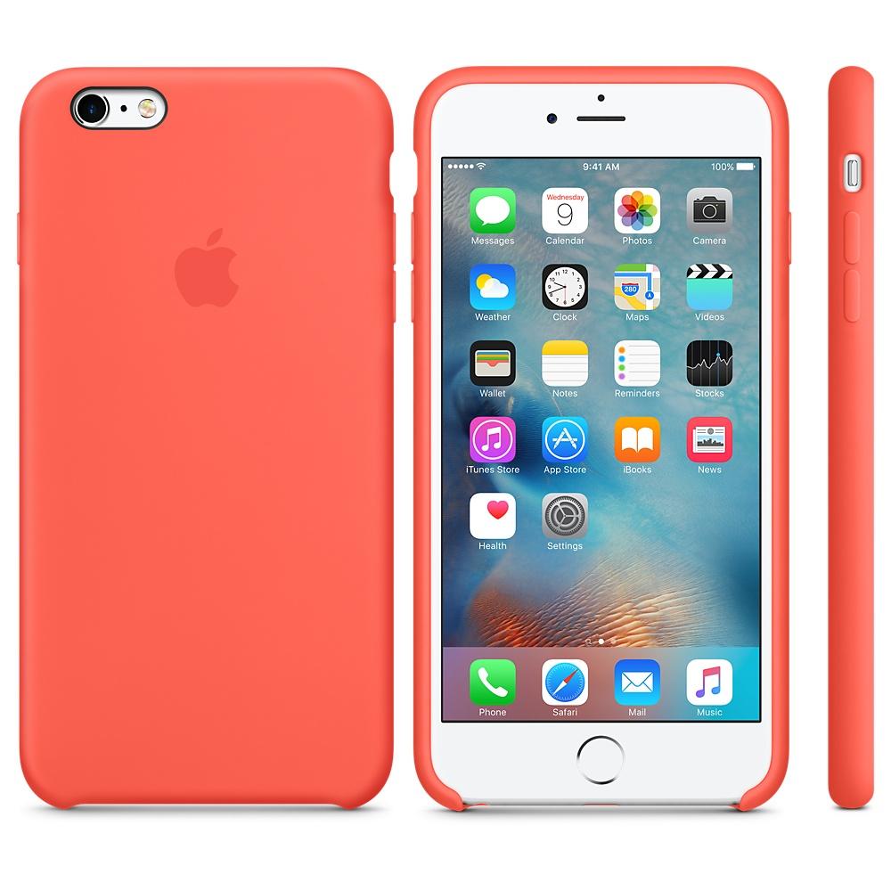 Чехол Silicone Case для iPhone 6 Plus/6s Plus Apricot OEM