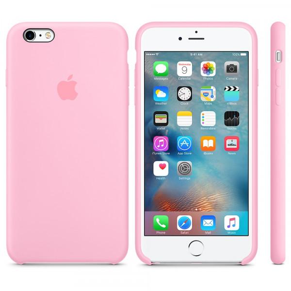 Чехол Silicone Case для iPhone 6 Plus/6s Plus Candy Pink OEM