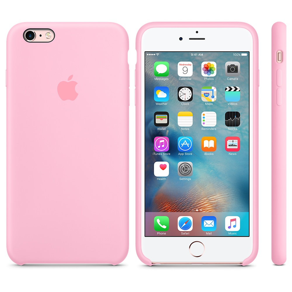 Чехол Silicone Case для iPhone 6 Plus/6s Plus Candy Pink OEM